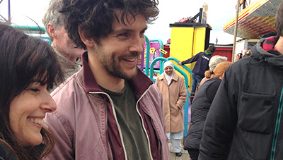 Behind the Scenes The Laughing King Colin Morgan with Director Lindy Heymann